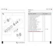 Шестерня и корзина сцепления (без дисков) (Bajaj Boxer BM150 / BMX150)