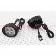 Фара дополнительная светодиодная влагозащитная - 4 LED (65*55mm) с креплением под зеркало (к-кт 2шт)