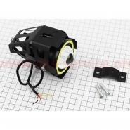 Фара дополнительная светодиодная влагозащитная - LED (110*70mm) линза с ободком