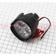 Фара дополнительная светодиодная влагозащитная - 4 LED (50*65mm) с креплением