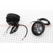 Фара дополнительная светодиодная влагозащитная - 4 LED (82*76mm) с креплением, прямоугольная