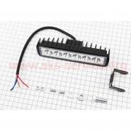 Фара дополнительная светодиодная влагозащитная - 6 LED (155*42mm) с креплением, прямоугольная