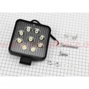 Фара дополнительная светодиодная влагозащитная - 9 LED (80*65mm) с креплением