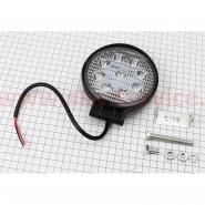 Фара дополнительная светодиодная влагозащитная - 9 LED (115mm) с креплением, круглая