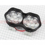 Фара дополнительная светодиодная влагозащитная - 18 LED (146*62mm) с креплением, двойная