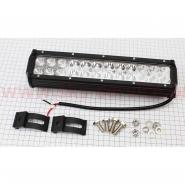 Фара дополнительная светодиодная влагозащитная - 24 LED (295*75mm) с креплением, двойная, прямоугольная