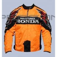 Мотокуртка HONDA (текстиль, оранжево-чорна)
