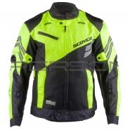 Мотокуртка SCOYCO (текстиль, mod:JK36, чорно-зелена)