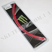 """Наклейки на колесо 17"""" (светоотражающие) (Monster Energy)"""