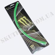 """Наклейки на колесо 18"""" (світловідбиваючі) (Monster Energy)"""