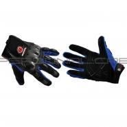 Моторукавиці SCOYCO HD-12 (текстиль, карбон, сині)