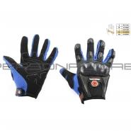 Моторукавиці SCOYCO MC-09 (текстиль, сині)