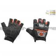 Мотоперчатки SCOYCO MC-24D (без пальцев, текстиль, красные)