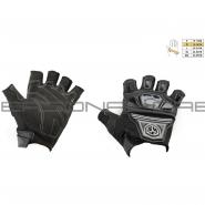 Мотоперчатки SCOYCO MC-24D (без пальцев, текстиль, черные)