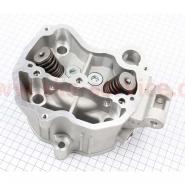 Головка цилиндра (4T 63,5мм 200cc) (CG-200) (с клапанами, водяное охлаждение)