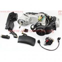 Двигатель 139QMB (4T 80cc) (короткий вариатор, длинный вал, с карбюратором...) (Mototech)
