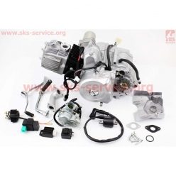 Двигатель 110cc (полуавтомат, с карбюратором, коммутатором, катушкой зажигания, реле...) (Viper Active) (Mototech)