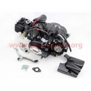 Двигатель 110cc (для квадроцикла, мопедный, полуавтомат, 3 передачи + 1 задняя)
