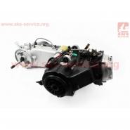 Двигатель 110cc (для квадроцикла, мопедный, механика, 3 передачи + 1 задняя)