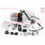 Двигатель 110cc (механика, с карбюратором, коммутатором, катушкой зажигания, реле...) (Viper Delta) (Mototech)