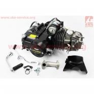 Двигатель мопедный 125cc (Delta) (механика, алюминиевый цилиндр, черный) (TMMP)