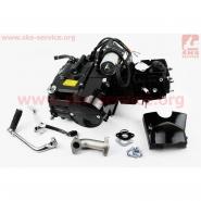 Двигатель мопедный 110cc (Active) (автомат, черный) (СЛОН)