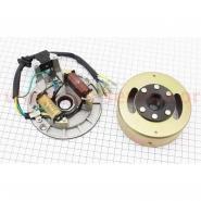 Генератор в сборе (Viper Active, Delta, Alpha, zs50f) (2 катушки, на безстартерный двигатель)