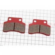 Тормозные колодки дисковые (полумесяц, красные) (YONGLI)