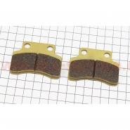 Тормозные колодки дисковые (полумесяц, желтые) (YONGLI)