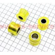 Сайлентблоки амортизатора (Ø10мм и Ø12мм, 4шт) (желтые)
