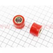 Сайлентблоки амортизатора (Ø10/12мм, красные, 2шт)