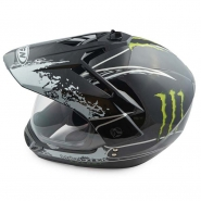 Шлем кроссовый FGN (mod:103) (с визором, черный)