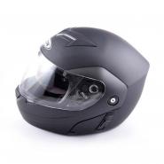 Шлем трансформер FGN (mod:111) (черный матовый, солнцезащитные очки)