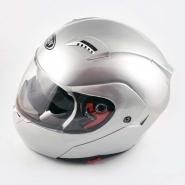 Шлем трансформер FGN (mod:688) (серебро, солнцезащитные очки)