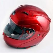 Шлем трансформер FGN (mod:688) (красный, солнцезащитные очки)