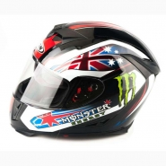Шлем интеграл FGN (FX310) (черный) MONSTER ENERGY