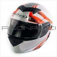 Шлем трансформер FGN (FX-111) (бело-оранжевый)