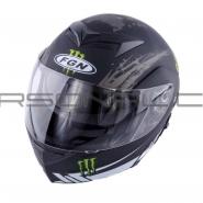 Шлем трансформер FGN (FX-111) (черный матовый) MONSTER ENERGY