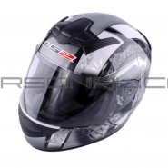 Шлем интеграл LS2 (FF352) (бело-серый)