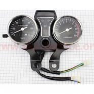 Спидометр в сборе 120км/ч (узкое крепление, тахометр электронный) (Viper Alpha, Delta) (GXmotor)
